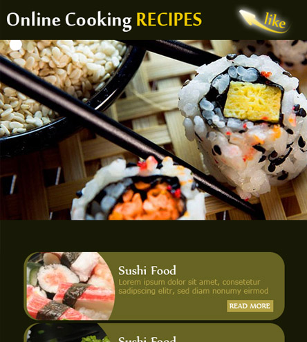 Online Cooking Recipes - free facebook template