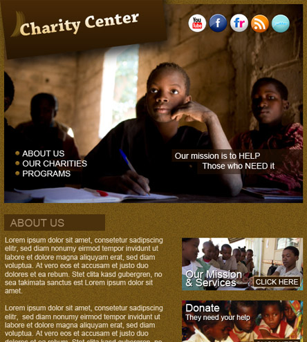 Charity Center - free facebook template