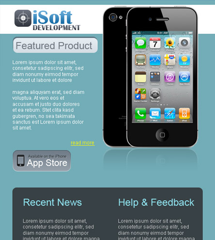 iSoft Development - free facebook template