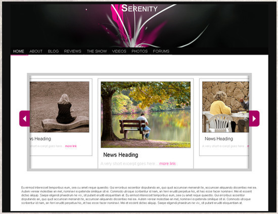 Serenity - HTML5 And CSS3 Templates