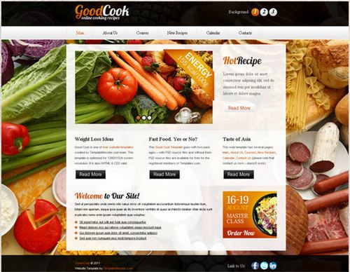 Cooking Site - HTML5 And CSS3 Templates