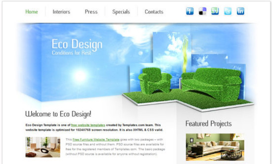 Furniture Website - HTML5 And CSS3 Templates