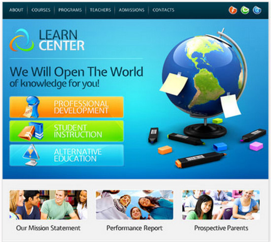 Learning Center - HTML5 And CSS3 Templates