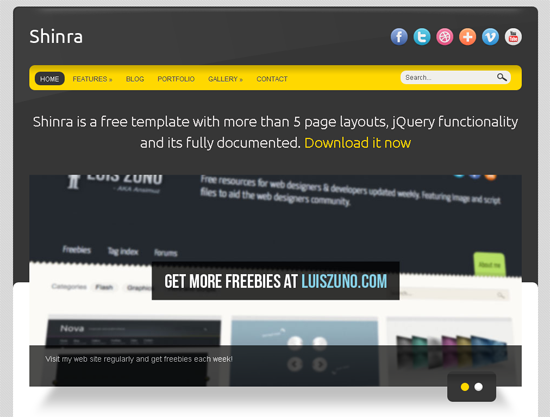 Shinra - HTML5 And CSS3 Templates