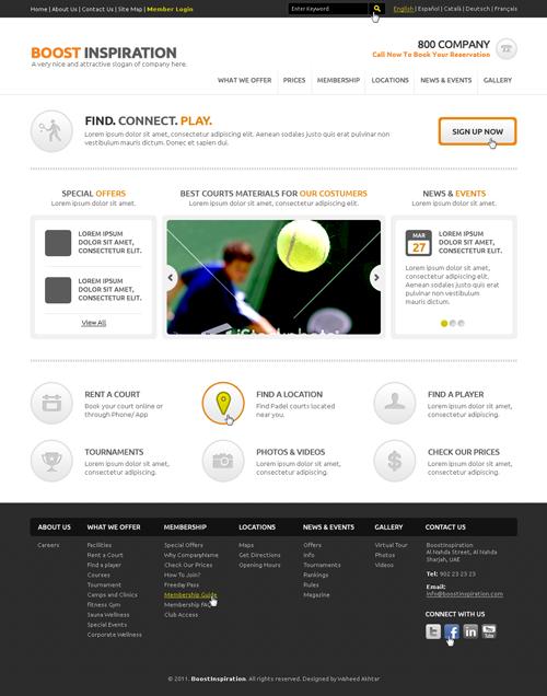 website psd template