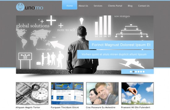10 Free And Creative PSD Website Templates