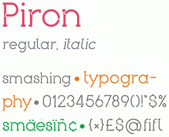Piron free fonts