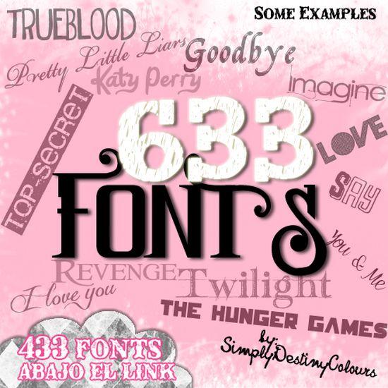 633 FONTS - Amazing Free Font