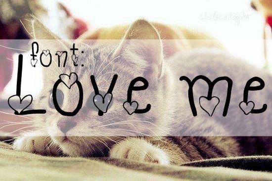 Font LOVE ME - amazing font