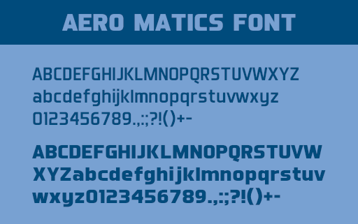 Aero Matics Font for designers