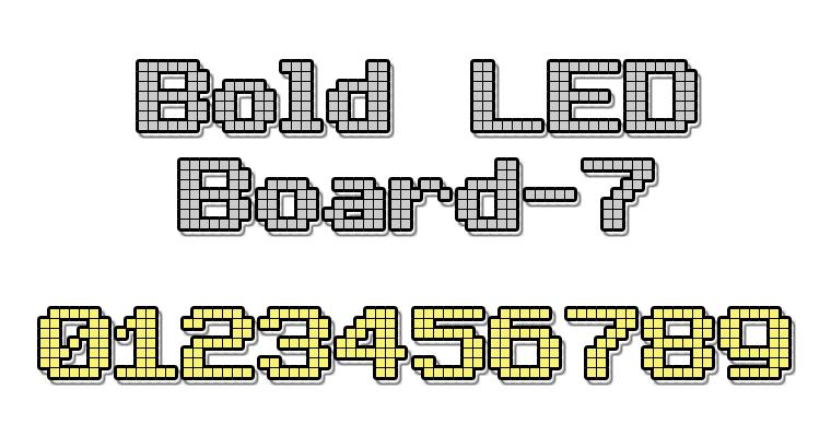 lcd fonts