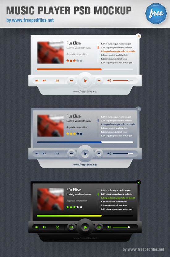 30 Free Download Media Player Psd