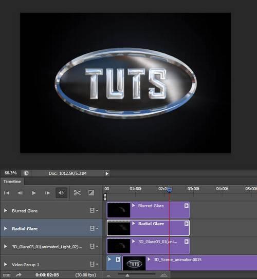 Create a 3D, Chrome, Logo Animation With Sound FX Using Photoshop CS6 Extended
