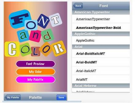 Font and Color - fonts iphone apps