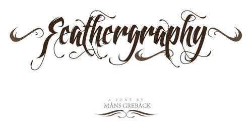 Feathergraphy Decoration font