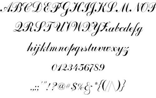 CoventryScriptFLF font