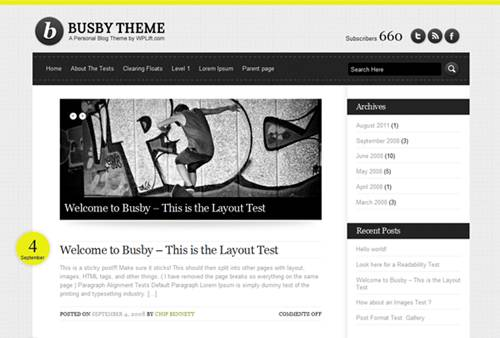 Busby HTML5 WordPress Theme