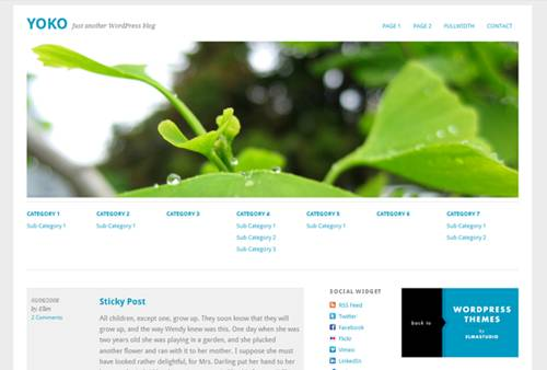 Yoko Free HTML5 WordPress Theme