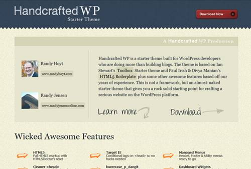 Handcrafted WP HTML5 Theme