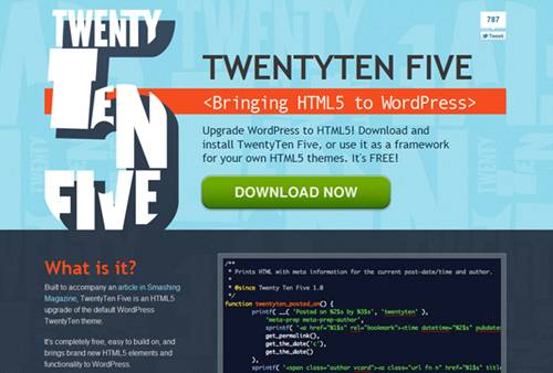 TwentyTen Five WordPress Theme