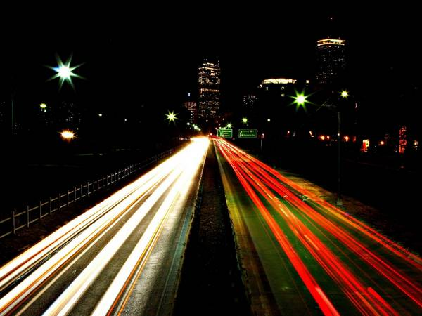 landscapes lights Boston cities - Wallpaper