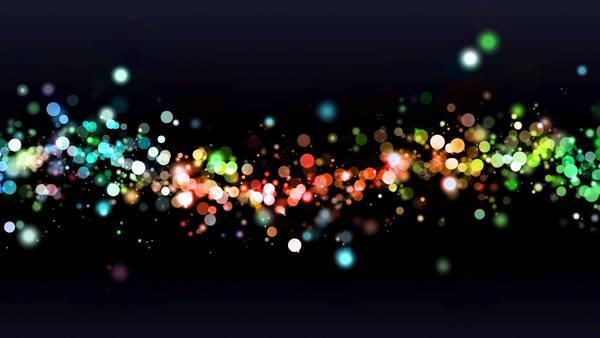 abstract lights circles bokeh digital art - Wallpaper