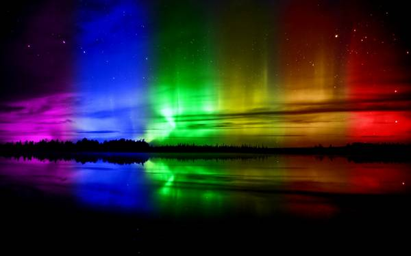 lights aurora borealis spectrum colors - Wallpaper
