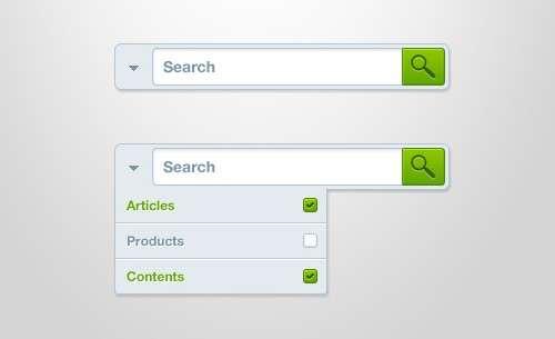 search box psd template
