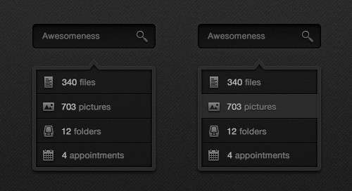search box psd template