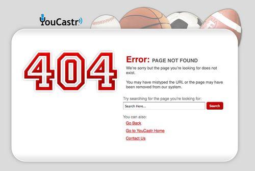 New YouCastr 404