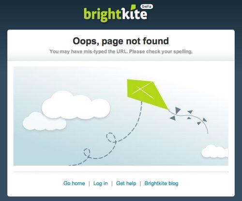 BrightKite 404