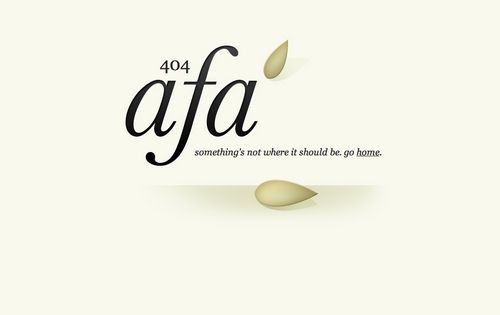 Simple 404 Page from A Feed Apart