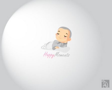 baby logo : Happy Moments by M.R.F.