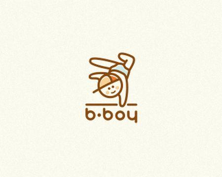 baby logo : b-boy by deiv