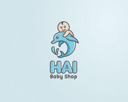 baby logo : Hai Baby Shop by wizmaya