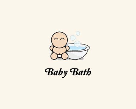 baby logo : baby bath by OLIVERAKOS
