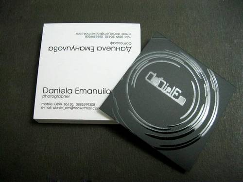 Daniela Emanuilova (Photographer) Business card