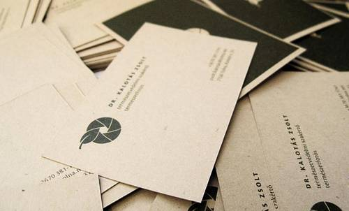 Business Cards for a Nature Photographer
