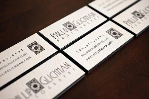 Phillip Glickman Photography Business Cards