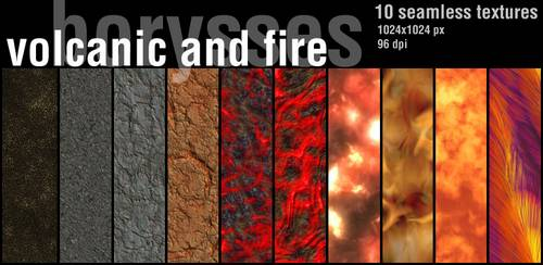 Volcanic and fire textures