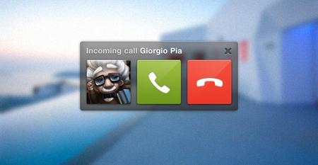 Skype call UI PSD