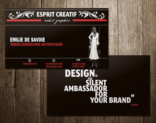 Business card – vintage style
