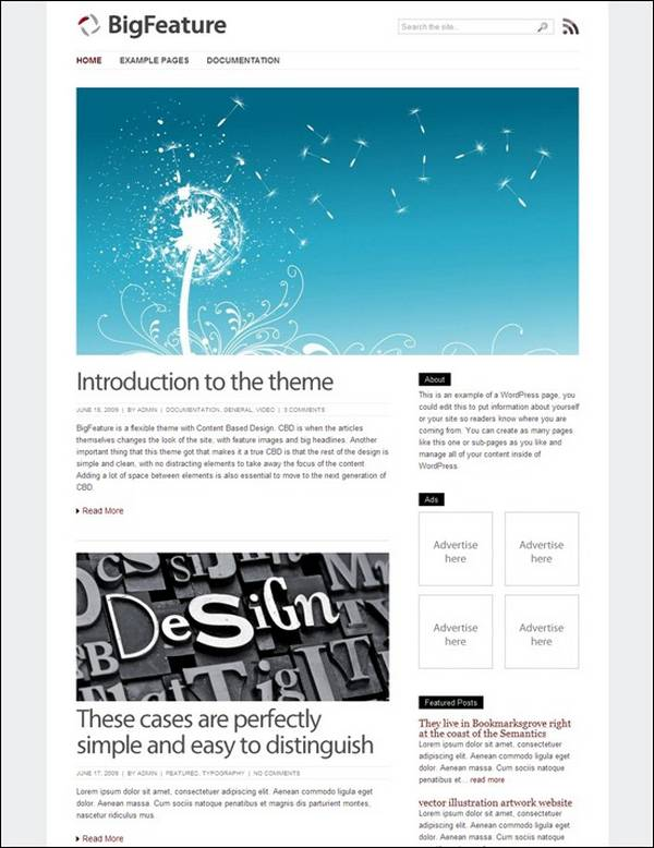BigFeature – WordPress Theme