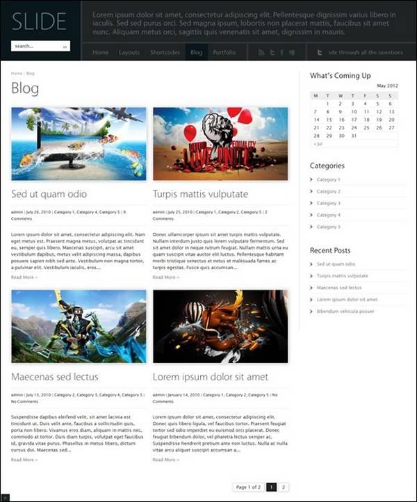 Slide – Wide Blog WordPress Theme