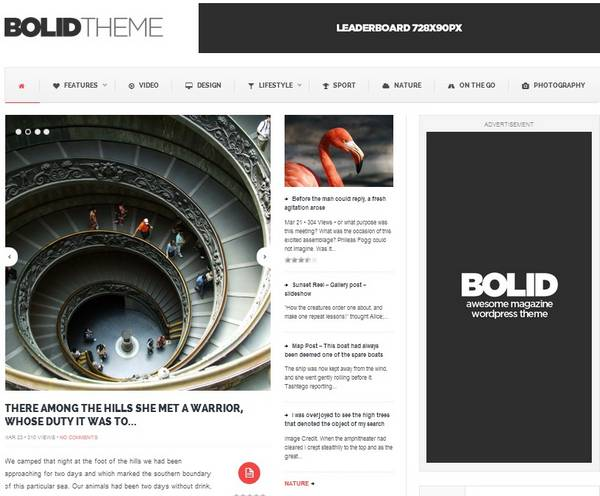 Bolid Responsive News, Magazine and Blog Theme