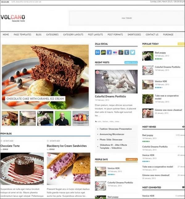 Volcano – Responsive WordPress Magazine / Blog
