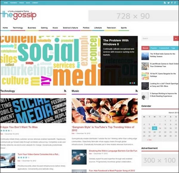 The Gossip: Funky Magazine WordPress Theme