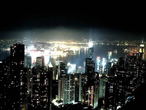 skylines  night  cities