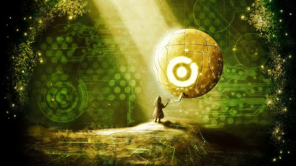 abstract fantasy art orb
