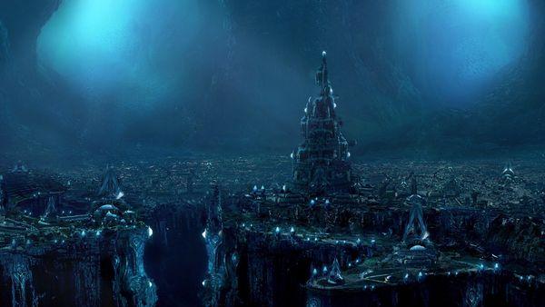 fantasy art underground upscaled